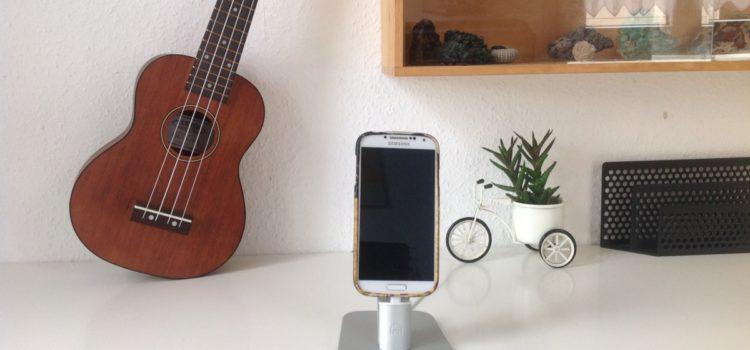 Spinido® Ladegerät stehen, TI-SET Luxury Einstellbare Desktop-Ladestation mit 2 Art des USB-Kabel für iPhone 6S / 6 Plus / 5s / iPad Mini und Samsung Galaxy S6 und andere Android-Smartphones (Silber)