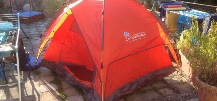 Video-Rezension: Mountaintop Trekkingzelt Zelt selbst aufbauendes, aufklappbares Tunnelzelt Familienzelt Campingzelt