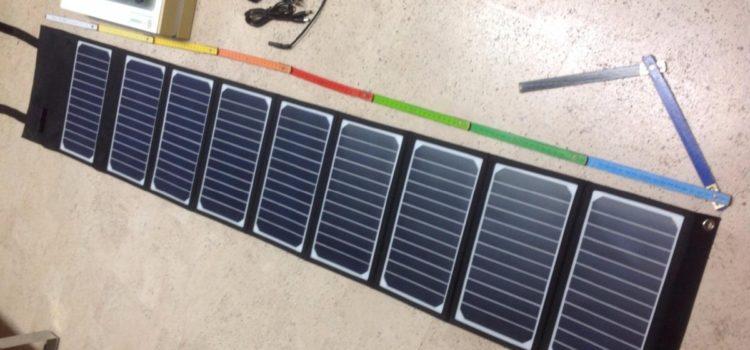 Test: SUNKINGDOM 60W 18V Solar Ladegerät 2-Port Beweglicher Solar Panel Ladegerät für Laptop, iPhone, iPad, Samsung und Andere Digitale Geräte