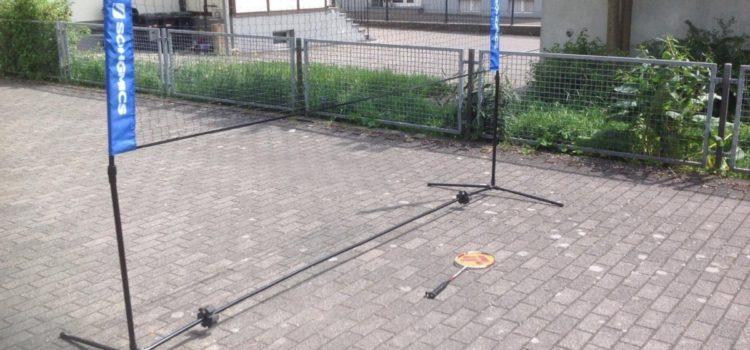 Test: Songmics Badmintonnetz faltbar Höhenverstellbar mit Gestell und tragbar