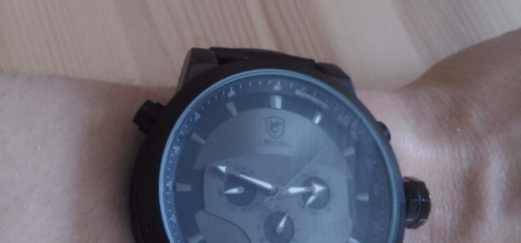 Test: Shark Herren Armbanduhr 5,0 cm Extragroßes Uhrgehäuse Leder Band Schwarz SH210