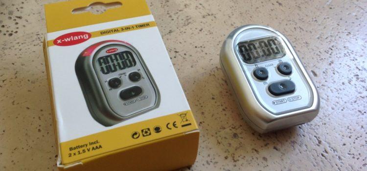 x-wlang Alarm Timer mit drei Signalarten: akustisch, haptisch und visuell