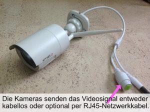 Eine der vier xmartO Überwachungs Kameras.