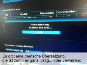 Die Übersetzungen sind teilweise lustig oder verwirrend...