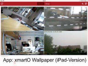 Mit der iPad-App lassen sich die die Live-Bilder der Überwachungskameras betrachten.