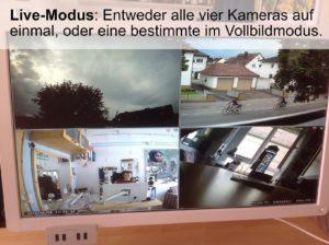Bilder der Überwachungskameras von xmartO (externer Monitor)