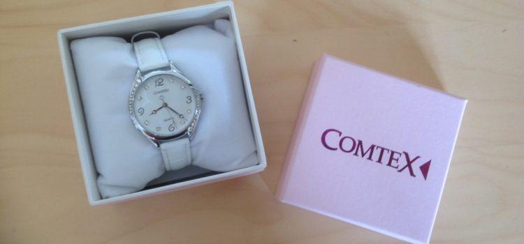 Review: Comtex Damen -Armbanduhr Analog Quarzuhr mit weiß Zifferblatt Analoge und Weiß Leder Armband wasserdicht