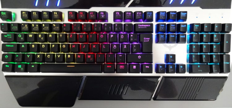 Rezension: HAVIT RGB Mechanische Gaming Tastatur, Blau Switches QWERTZ, 104 Tasten Anti-Ghosting mit USB Kabel (DE layout)