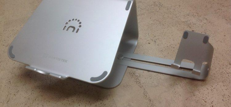 Rezension: Laptopständer mit Handy Halterung Hizek Aluminum