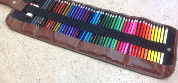 Test: Buntstifte, 48 Hochwertige Farbige Bleistifte Inklusive Leinwand-Etui und Zubehör. JNW Direct Jazmine-Set
