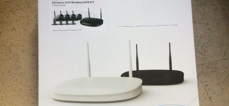 Rezension: Ctronics drahtloses Überwachungskamera-Set 2.4G HD NVR System. WiFi 4 wasserfest3 Kameras mit Nachtsicht-Funktion